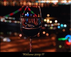 Welcome 2009 !!!     ...1500+ views in a day..thank you ~ (Debasis ~~) Tags: ocean life new light red party color night happy hotel glamour san december wine year diego hyatt 2008 2009 soe 31st