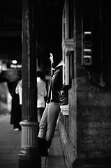 Grumpy guts (Hunter the bunter) Tags: street england blackandwhite black london underground nikon girlfriend dof unitedkingdom bokeh candid united streetphotography photojournalism kingdom depthoffield processing process vignetting journalism thetube streetwise londonist southwestlondon londonalt youngphotographers candin selftaughtphotographers wimbledonparkstation nikond300 nikonnikkor85mmf14 eastendaperture hunterskipworth