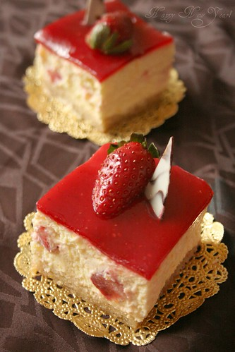 Berry Orange Mousse Cake