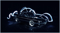 Trying It Out (Mike Burroughs) Tags: light paint bmw bimmer e28 535i