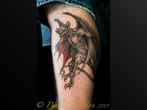 winged gargoyle tattoo Canberra · Summernats 2009 · Tattoo Competition