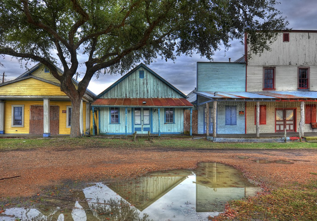 The ghost town just outside of Brenham, Texas (by Stuck in Customs)