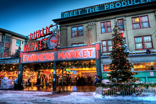 Seattle Pike Place Market At Christmas