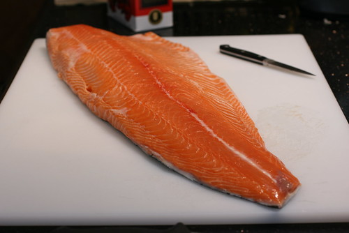 side of fresh salmon