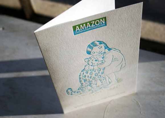 Letterpress holiday card for Amazon Conservation Association - Smock