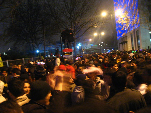 The crowd at the London Eye on New Year's Eve 2008, London