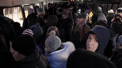 Attempting to get back on (timfernando) Tags: usa washington metro senator parking president transport platform queue crowding democrat obama inauguration 44 44th obamania
