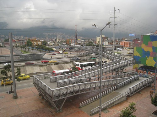 The view toward central Bogota from Laura's apartment