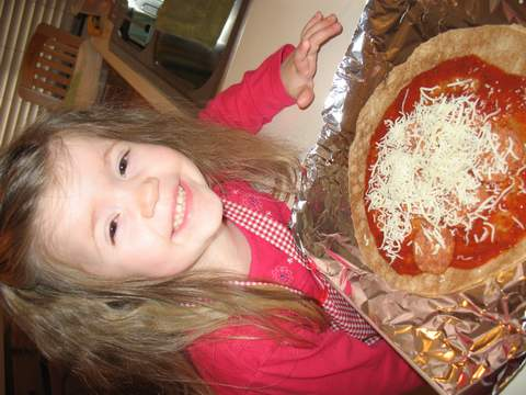 Cooking with Kids ~ Pizza