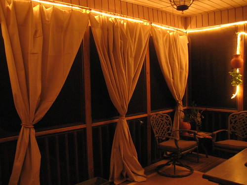 Add ... & Drop cloth curtain tutorial for the screened in patio - Unskinny Boppy