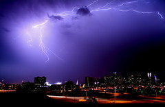 Lightning over Denver 1 (TVGuy) Tags: city sky storm skyline night canon colorado denver bolt lightning denverco