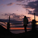 岸辺の夕闇