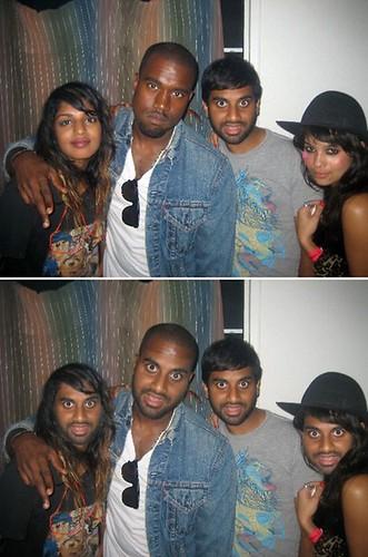 Aziz, Kanye, M.I.A.
