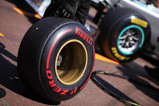 Pirelli F1 tire after warm lap - Monaco GP 2011