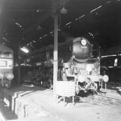 34100 'Appledore'  10.35am  at Salisbury  10th Oct 1965. + LIST OF LOCO'S ON SHED (Railway Dave & Jim Freebury) Tags: steam british railways locos uksteam