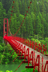 Red Bridge II (PacoAlcantara) Tags: bridge red japan forest river japanese countryside steel engineering explore civil  hanging kansai japon wakayama      littlestories      abigfave   canonef70200mmf4lisusm  flickrelite picswithsoul alemdagqualityonlyclub exploremar202008317