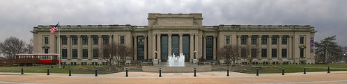 MIssouri History Museum, in Forest Park, Saint Louis, Missouri, USA - Jefferson Memorial exterior panorama