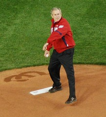 President Bush on the mound (afagen) Tags: washingtondc dc washington baseball georgewbush dcist presidentbush picnik openingday washingtonnationals firstpitch nationalspark