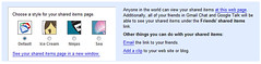 Google Reader shared items upgrade