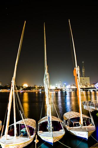The Nile and sailing boats...