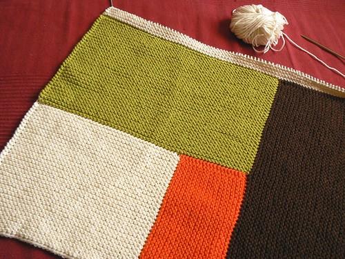 moderne baby blanket WIP