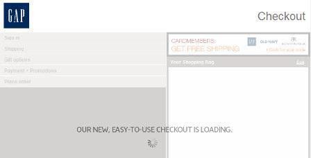 Checkout loading