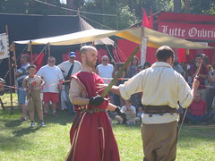 Mock Combat in the Medieval Village (defndaines) Tags: france fte presles lutteouvrire workersstruggle valdoise