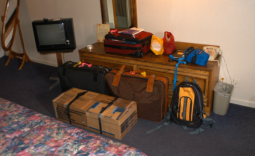 Hiker's lage for a flight to Moab, Utah