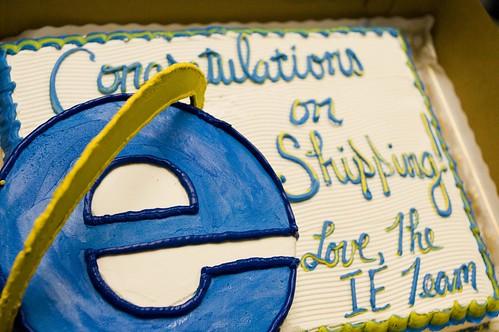 Microsoft Sends Firefox Cake