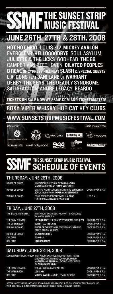 SSMF Lineup