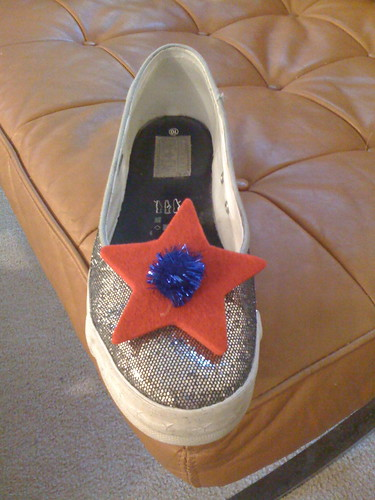 Patriotic shoe clips