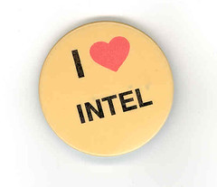 70's I heart Intel button