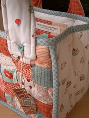 TeaTime quilted bag - detail par PatchworkPottery