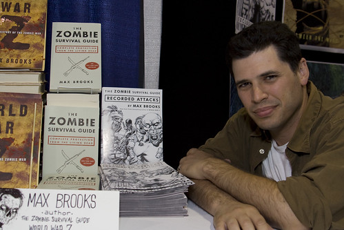 Zombie Survival Guide Author Max Brooks at the Avatar Booth