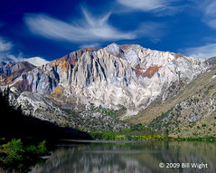 Convict Lake and Laurel Mountain (Bill Wight CA) Tags: mountain lake reflection water clouds highsierras convictlake laurelmountain billwight