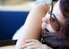 traveller's rest (François Bruneau) Tags: travel sleeping woman travelling girl face sunglasses k wow reflections aperture dof fingers calm resting bigcalm inoffensive wellatleastseemingly