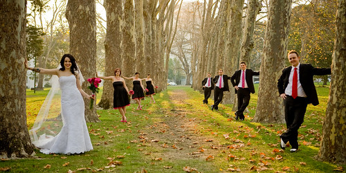 What made our wedding offbeat Hot pink was a central color palette my