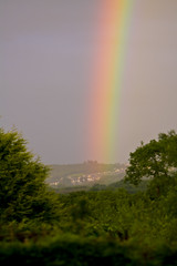 Rainbow (Malcolm Alce-King) Tags: weather rainbow carmarthenshire valley tumble wfc gwendraeth