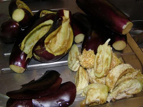 eggplant shells aubergine