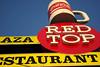 Red Top (bryanscott) Tags: red sign vintage typography restaurant winnipeg cola top manitoba signage type coca typog
