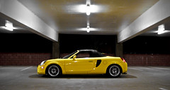 IMG_3375 (kenchi msg) Tags: blue white black hardtop yellow night momo lotus racing spyder turbo toyota mrs panning mr2 dpe enkei widebody veilside nardi zzw30