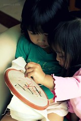 Crafting with Kids : Stitching together