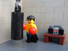 heavybag (S.L.Y) Tags: lego exercise boxing gym heavybag