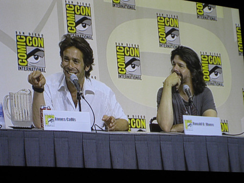 James Callis steals the panel and that's okay with me!
