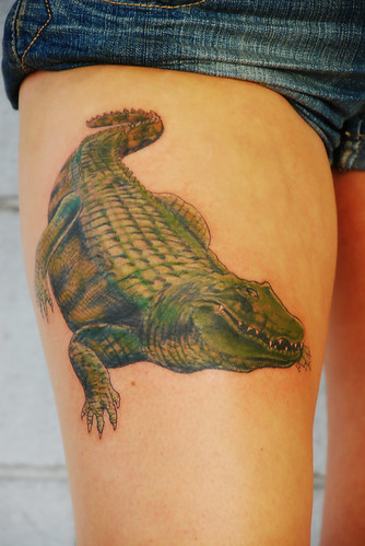 Alligator Tattoo by Joe at Asgard Ink tattoo studio by theeric11711