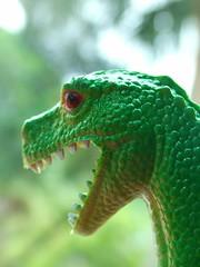 green t rex dinosaur (tiffanycsteinke) Tags: urban green sunshine animal toy dino dinosaur florida trex greenbeautyforlife