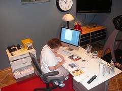 mom at work in her office (alist) Tags: family alist robison alicerobison 66214 ajrobison