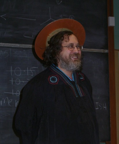 Richard Stallman at the University of Auckland, August 9, 2008