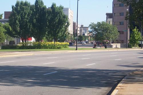 Approaching downtown