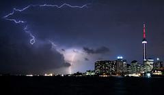 Lightning-over-Toronto (dpicsphotos) Tags: sky ontario storm water nikon nightshot d70s cityscapes nikond70s harbourfront torontoisland lightning portlands dpicsphotos